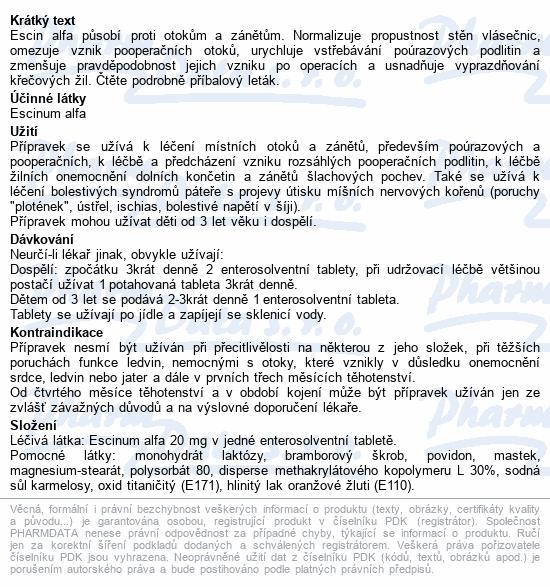 Aescin-Teva por.tbl.flm.30x20mg