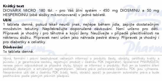 Diovarix micro tbl.180