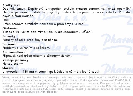 Brainway L-Tryptofan cps.60
