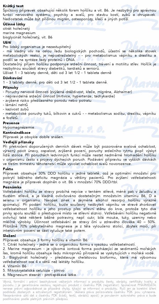 MAGNESIUM Biokomplex + B6 tbl.80 Dr.Bojda
