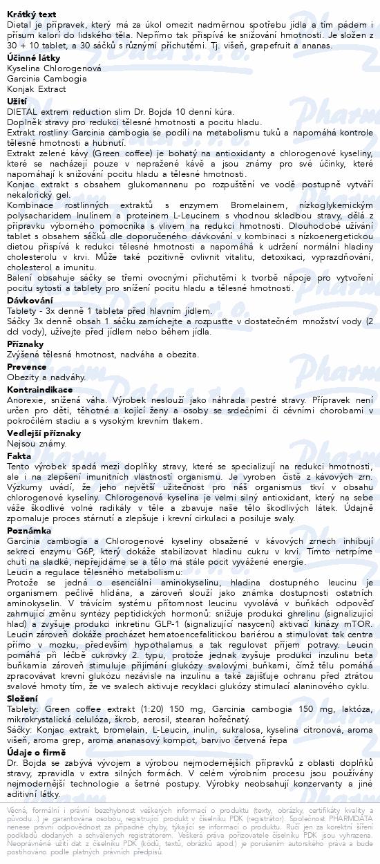DIETAL extreme reduction slim 10 denní Dr.Bojda