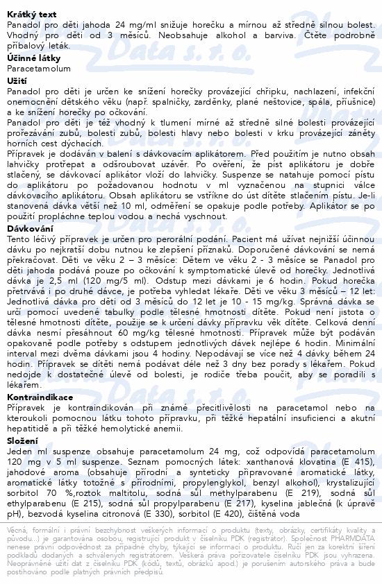 Panadol pro děti Jahoda 24mg-ml por.sus.100ml III