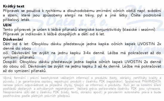 Livostin 0.5mg-ml oph.gtt.sus.1x4ml