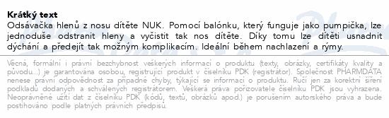 NUK-Odsávačka nosních hlenů 256065