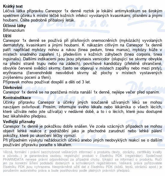 Canespor 1x denně roztok drm.sol.1x15ml