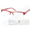 Brýle čtecí +1. 00 UV400 červeno-černé s pouzdrem