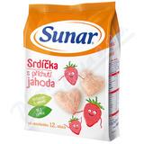 Sunar dětský snack jahodová srdíčka 50g