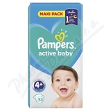 PAMPERS Active Baby VPP 4+ Maxi Plus 53ks