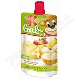 KUBÍK baby kapsička jabl-ban-rýžová krupice 120g