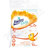 Jednorázové bryndáky LINTEO BABY bílé 10 ks
