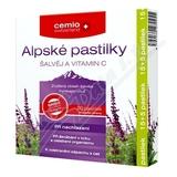 Cemio Alpské pastilky šalvěj a vitamin C pst.15+5