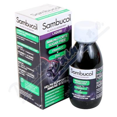 SAMBUCOL Immuno Forte Sirup dia+vit.C+zinek 120ml