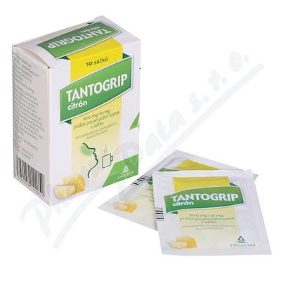 Tantogrip citrón 600mg-10mg por.plv.sol.scc.10